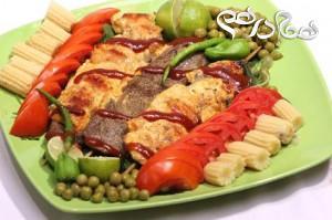 طرز تهیه کباب حسینی با گوشت و مرغ