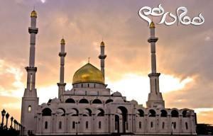 تصاویر دیدنی از مسجد زیبای نور قزاقستان